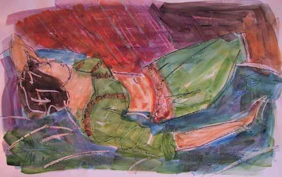 Amarine - Peintures - Aquarelles - Femmes