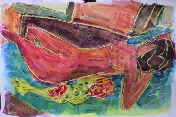 Armeria - Peintures - Aquarelles - Femmes - Nus - Nues