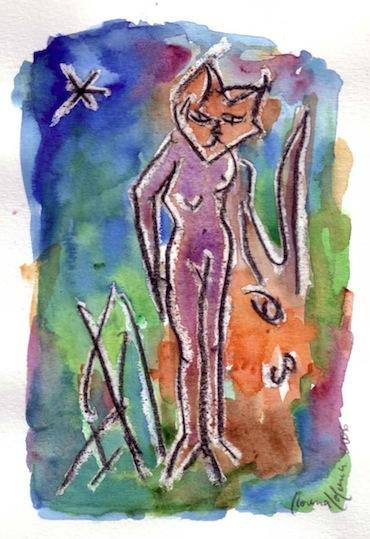 Peintures - Aquarelles - Fari - Animal - Animaux