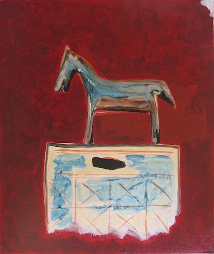 Peinture - Chevaux - Cavaliers - Serrure cheval de la cosmogonie