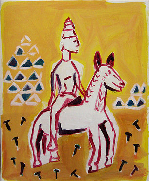 Chevaux et cavaliers - Sur l'arche du monde N°3 - Peinture - Hommes - Cheval - Animal - Animaux