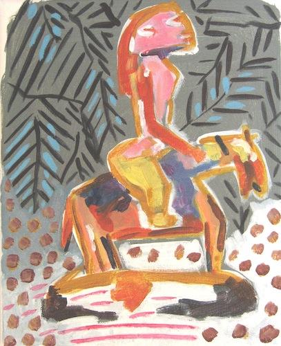 Chevaux et cavaliers - Yennenga petite cavalière de la cosmogonie - Femmes - Cavalières - Animal - Animaux - Cheval - Peinture