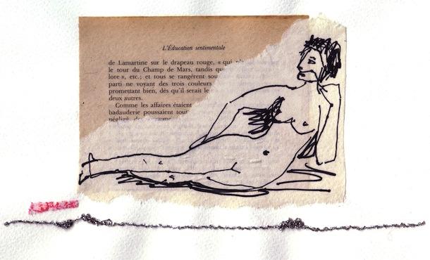 Femmes - 2012 - Chant de mars - Collages - Papiers collés - Techniques mixtes - l'éducation sentimentale