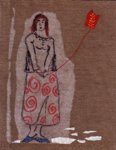 Femmes - 2012 - Le cerf volant - Jeux - Jouets - Techniques mixtes - Collages - Papiers collés