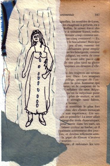 Femmes - 2012 - Nuage - Collages - Papiers collés - Techniques mixtes