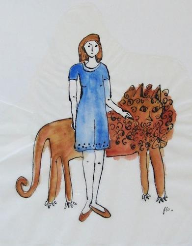 Femmes - 2013 - Le Lion de Némée - Peinture - Animal - Animaux
