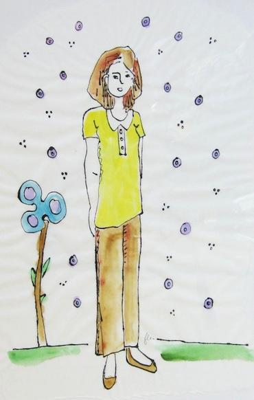 Peinture - Femmes - 2013 - Songe - Fleurs