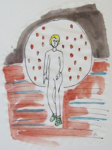 Peinture - Femmes - 2013 - Un Paon