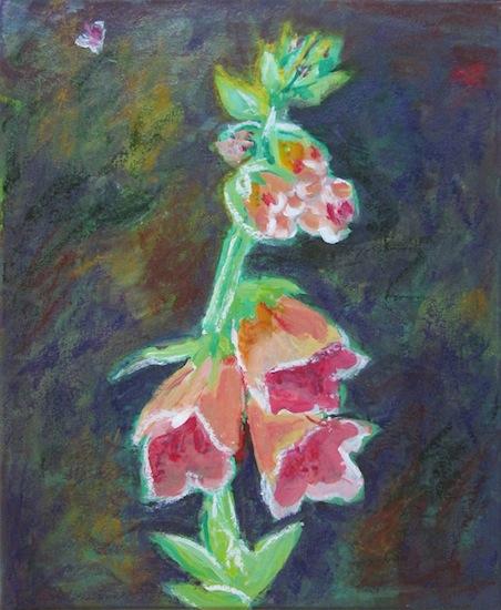 Natures - Fleurs - Digitale - Couleurs - verts -roses - Plantes - Flores