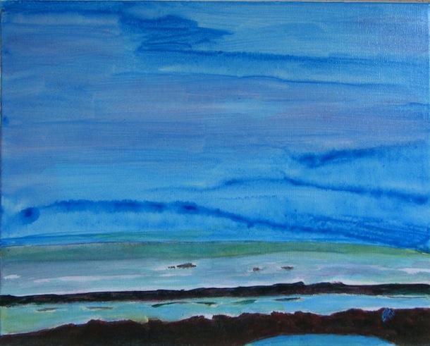 Natures - Peintures - Paysages - Petite Lagune - Mers - Eaux