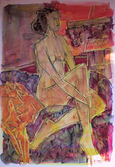 Alisier - Peintures - Aquarelles - Femmes - Nus - Nues