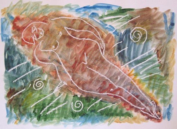 Femme Rivière - Aquarelles - Peintures - Femmes - Eaux
