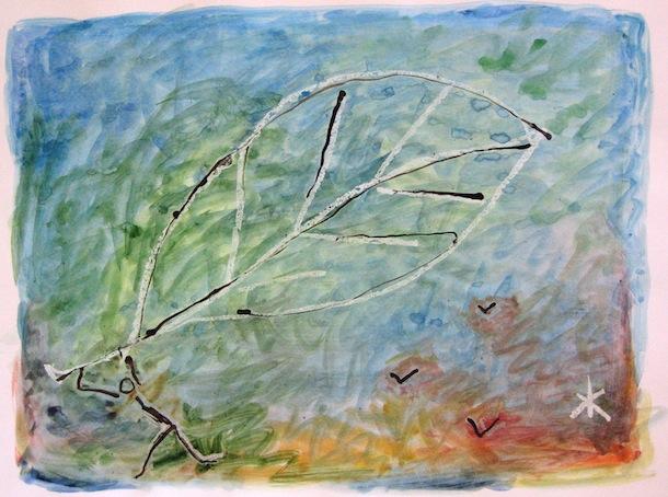 Aquarelles - Feuille et oiseaux - Peintures - Natures - Flores - Faunes - Animal - Animaux - Hommes