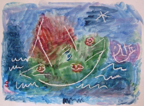 Fleurs de mer - Peintures - Aquarelles - Eaux