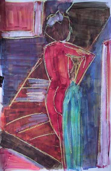 Gentiane - Peintures - Aquarelles - Femmes - Nus - Nues