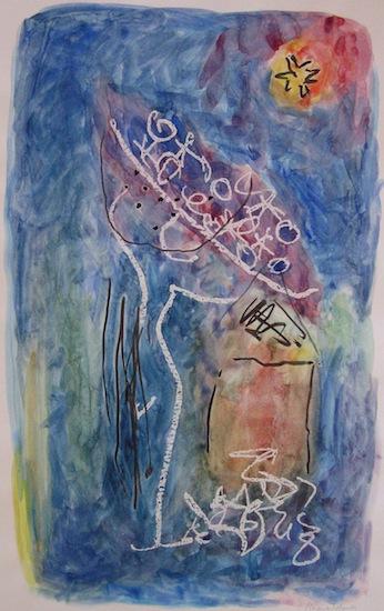 Maisons Oranges - Aquarelles - Peintures