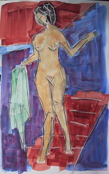 Orthilia - Peintures - Aquarelles - Femmes - Nus - Nues