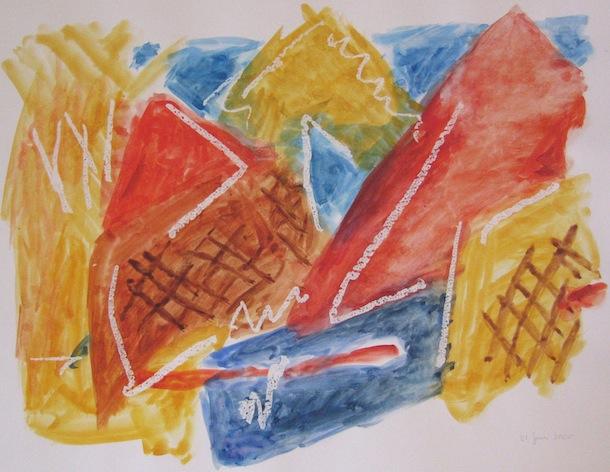 Aquarelles - Village Rouge - Peintures