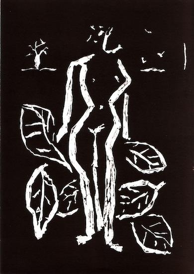 Linogravures - Chant secret Femmes - Nus - Nues - Plantes - Flores - Arbres - Oiseaux