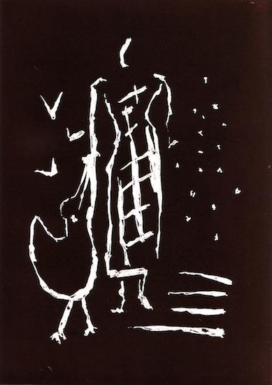 Linogravures - Rythme de graines - Femmes - Robes - Animal - Animaux - Oiseaux