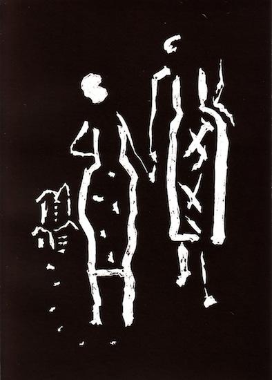 Linogravures - Silence - Femmes - Couples
