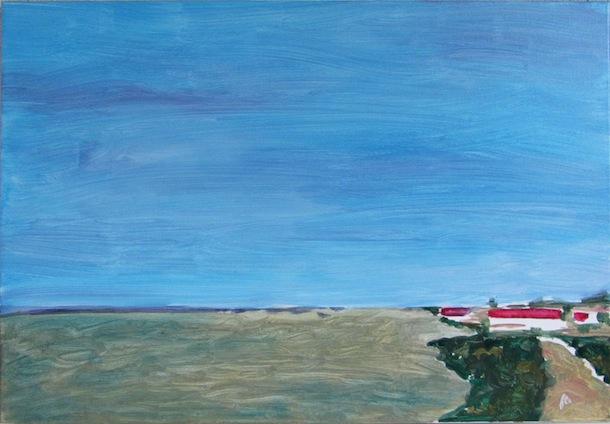 Grande Île de Ré - Paysages - Natures - Peintures - Ciel bleu - Acryliques