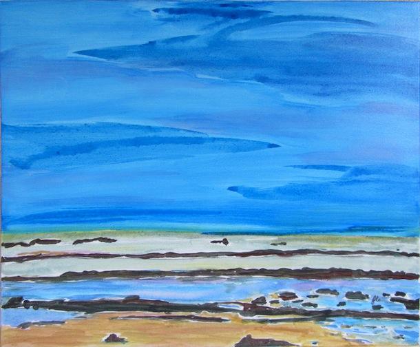 Grande Lagune - Natures - Paysages - Acryliques - Mers - Eaux