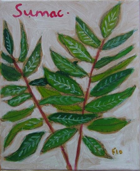 Sumac - Natures - Peintures - Acryliques - Flores - Plantes - Fleurs