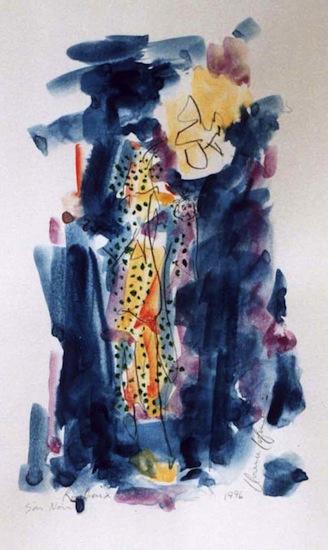Roubaix soir noir - Aquarelles - Encre de Chine - Séries - Villes - Peinture