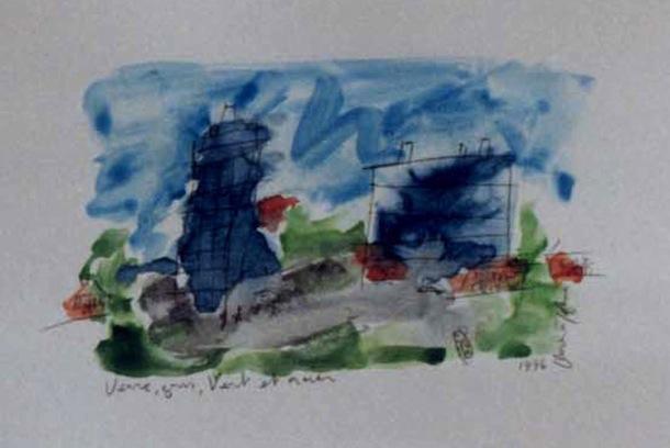 Roubaix verre - Villes - Séries - Peintures - Encre de Chine - Aquarelles