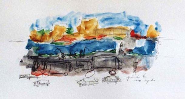 Roubaix voie rapide - Villes - Séries - Peintures - Encre de Chine - Aquarelles