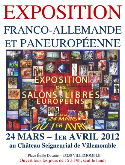 Salon franco allemand- Expositions, peintures, sculptures - Salon paneuropéen, Villemomble 2012
