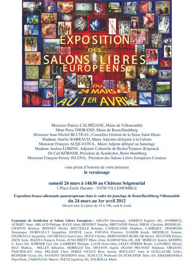 Expositions, peintures, sculpture, Salons Libres Indépendants, château de Villemomble, 2012