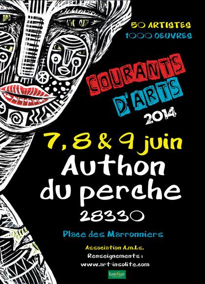 Festival Courants d'Arts - juin 2014 - Authon du Perche - expositions - peintures - sculptures - Art Marginal Insolite et Singulier