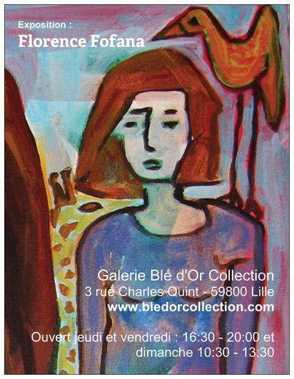Expositions Florence Fofana octobre 2013, Galerie Blé d'Or Collection, Peintures, Dessins, Sculptures