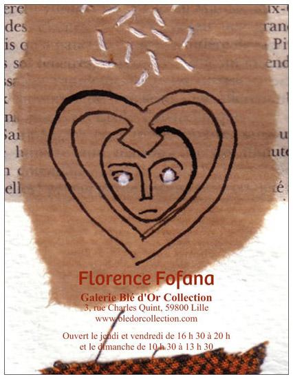Exposition Florence Fofana 2012, Peintures, Dessins, Techniques mixtes, Collages Galerie Blé d'Or Collection