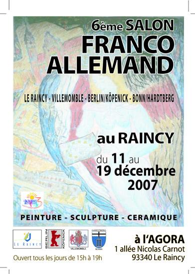 Expositions, événements, peintures, sculptures, céramiques, Raincy