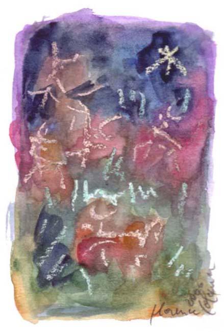 Aquarelle, Dessin, Papier Paysage