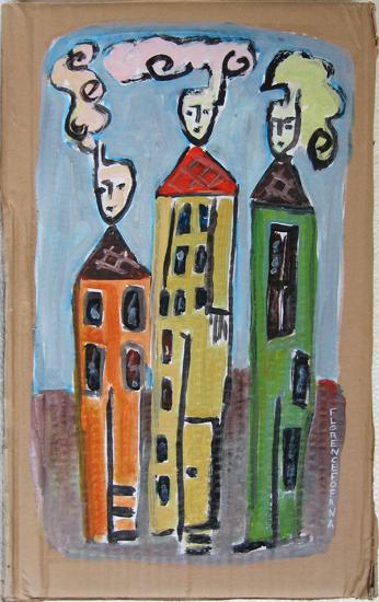 Enfumes- Personnages - ville - Peinture