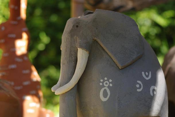 Modelage - Céramique - Animal - animaux - éléphant - Terre cuite