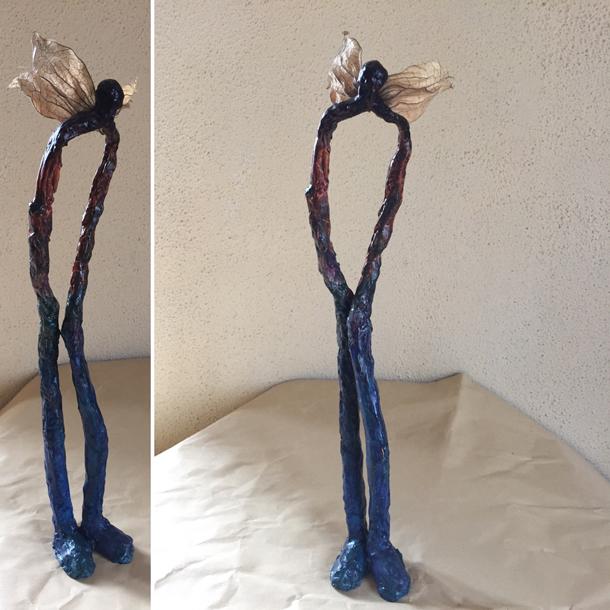 Papier mâché - Personnage - sculpture