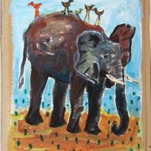 Sur le dos de l'éléphant