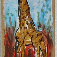 Girafe ciel clair