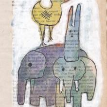 Lièvre, Oiseau, Éléphant