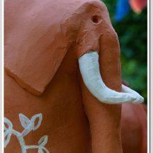 Éléphant terracotta